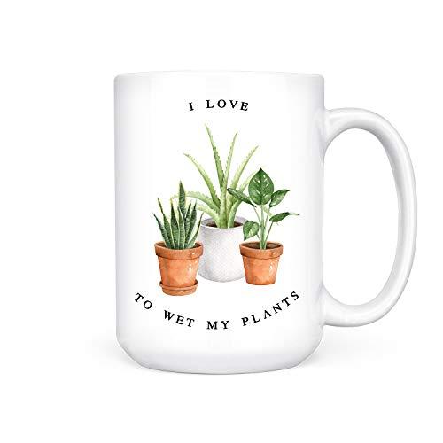 Thee Mok, Natte Mijn Planten Natte Mijn Planten Mok Planten Mok Plant Lady Mok Plant Mok Mok Mok Mok Mok Koffie Mok Grappige Mok Grappige Koffie Mok 15Oz Grote Mok