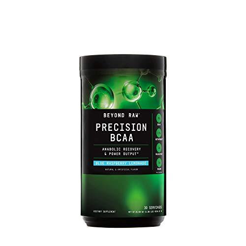 Beyond Raw Precision BCAA Powder   Anabolic Recovery & Power Output   Blue Raspberry Lemonade   30 Servings