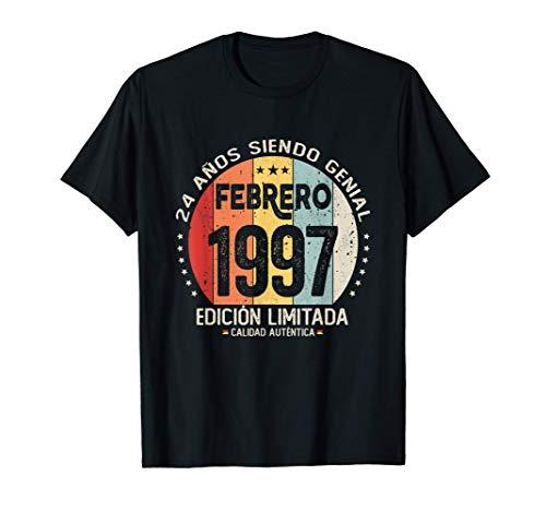 24 años Cumpleaños Nacido en Febrero 1997 Regalo de 24 años Camiseta