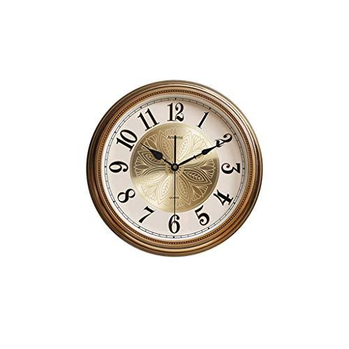 Reloj de Pared Reloj de Pared Simple, Sala de Estar, Reloj de Metal de Lujo nórdico Dorado, Colgante de Pared, Tablas de Pared Creativas Europeas for el hogar Moderno Decoración de la Sala Cocina
