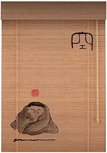 RENQIAN houten gordijn gordijn schaduw bamboe gordijn retro Chinese bamboe gordijn kwaliteit gecarboniseerd gordijn veranda gordijn rolluik