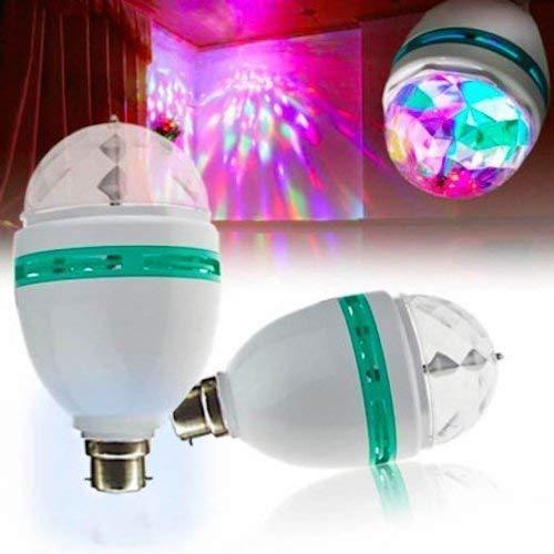 Matiman Enterprise LED Crystal Rotating Bulb Magic Disco LED Light,LED Rotating Bulb Light Lamp for Party/Home/Diwali Decoration etc use- 1 Pcs