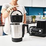 Moulinex HF4568 Click Chef Küchenmaschine mit Kochfunktion (1400 Watt, 12 Geschwindigkeitsstufen, Gesamtvolumen: 3,6 Liter, 28 Funktionen, inkl. Zubehör und Rezeptheft) Schwarz - 7