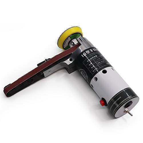 KKmoon elektrische schuurmachine mini handschuurmachine handschuurmachine met schuurriem koffer voor gereedschappen van slijpen