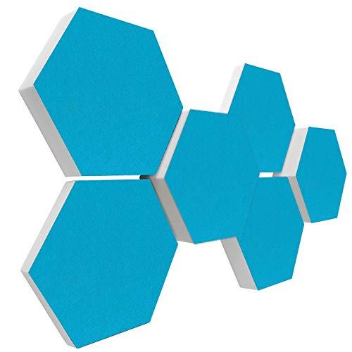 Basotect G+ Schallabsorber 3D-Set < 6 Elemente Ø30cm > Diverse Farben (TÜRKIS)