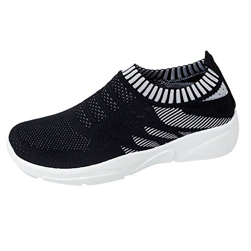 Kaister Damen Outdoor Freizeit Mesh Sportschuhe Runing Atmungsaktive Schuhes Leichte Schnürer Gym Freizeit Sneaker