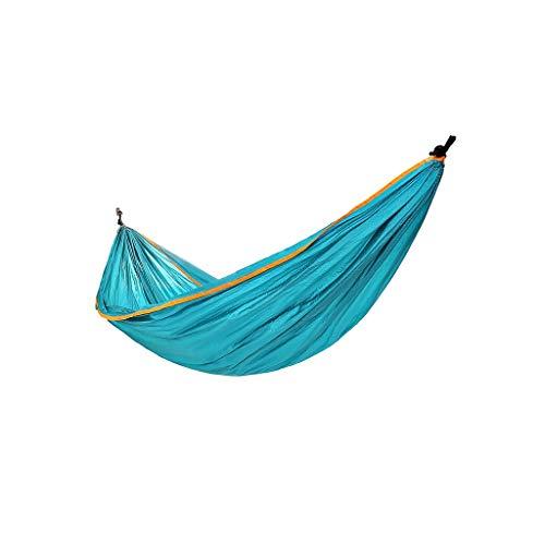 KOREY Hamaca Portátil De Nylon con Doble Refuerzo, Ideal para Dormir Al Aire Libre, Camping, Excursión,Hamaca Ultraligera para Camping,Ultranatura Hamaca,260 * 140 Cm