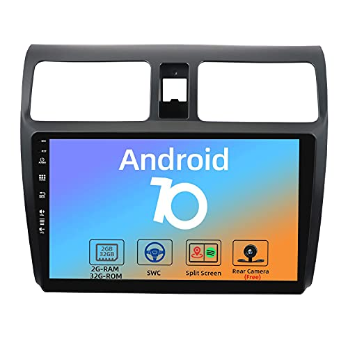 JOYX Android 10 Autoradio Compatibile Per Suzuki Swift(2005-2016) - [2G+32G] - 2 DIN - Telecamera Gratuiti - 10.1 Pollici - IPS 2.5D - Supporto DAB 4G WLAN Bluetooth5.0 Carplay Android Auto Mirrorlink