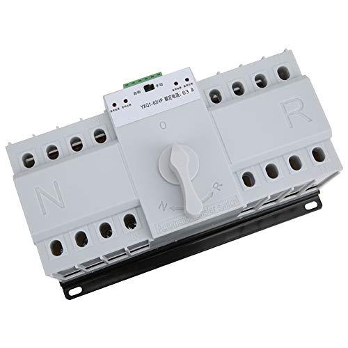 Weikeya Interruptor de Transferencia de Potencia confiable, 63A Transferencia automática de Potencia de 3ka Hecho de plástico