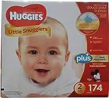 Huggies Little Snugglers - Paquete de pañales, tamaño 2, 174 unidades