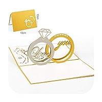 3Dフラワーグリーティングカードポップアップカード白い封筒はがき誕生日プレゼントイベントパーティークリスマスの招待状-24-