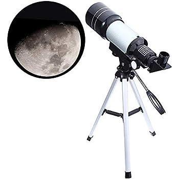 Jukkre F30070M Refractive Astronomical Telescope; HD telescope ;Monocular Space Outdoor Travel Spotting Telescope Photography 150X