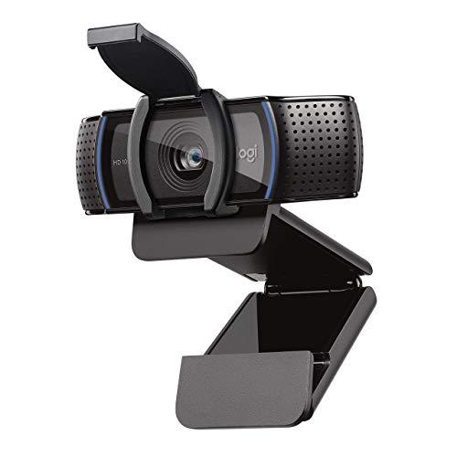 Logitech C920s HD Pro Webcam (Videogespräche und Videoaufnahmen in Full HD mit 1080p mit zwei Stereo-Mikrofonen, Abdeckblende, neue Capture kompatibel mit Mac OS, PC und Xbox) (Generalüberholt)