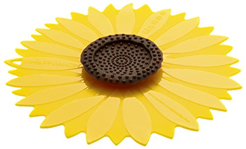 Charles Viancin 1104EU Sunflower tapa de silicona amarilla, diametro de 15 cm