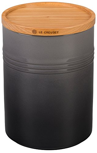 Le Creuset Stoneware Canister with Wood Lid, 2.5 qt. (5.5