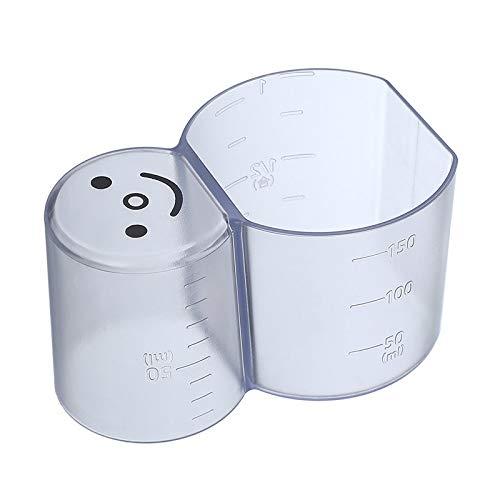 Coupes de mesure transparentes de 80 + 150 ml avec balance des écailles de cuisine en plastique de qualité alimentaire 2 en 1 cuisson de cuisson à la cuisson de thé à la tasse à mesurer (Color : A)