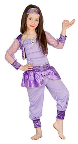 Guirca- Costume da Odalisca per Bambini, Lilla, S, 85955