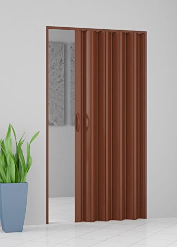 ROLLPLAST Kit puerta fuelle de PVC 82 cm x 224 cm Color blanco o marrón pinto