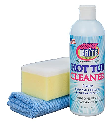 Quick N Brite Heavy Duty Hot Tub Cleaner with Sponge and...