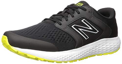 New Balance Men's 520v5 Cushioning Running Shoe, Black/Sulfur, 11.5 4E US