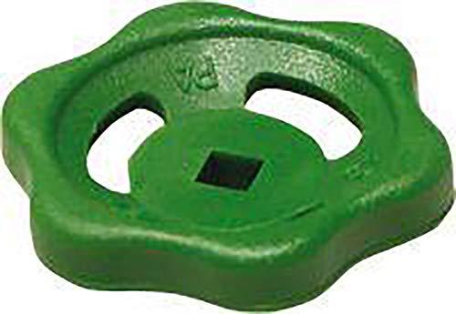 Sanitop-Wingenroth 14205 Handrad für Durchgangs- oder Schrägsitzventile, grün