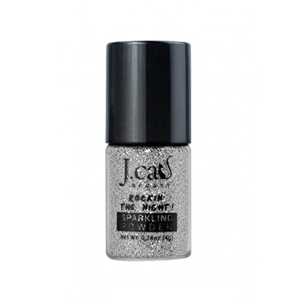 修羅場バックグラウンド増加する(6 Pack) J. CAT BEAUTY Sparkling Powder - Cool Silver (並行輸入品)