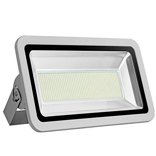 Missbee 500W Led Flood Light Outdoor, 6000-6500K 55000Lm Energy Saving LED Work Lights, IP67 Waterproof Landscape Spotlights Security Light for Garage, Yard, Lawn, Garden(Cold White)
