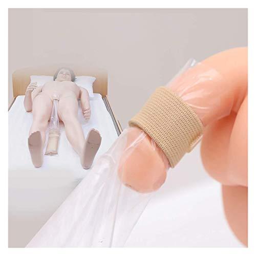 Bolsa de recolección de orina portátil de 50 piezas Bolsa de orina desechable con capacidad de banda elástica Ayuda para la incontinencia urinaria para hombres mayores y discapacitados postrados en ca