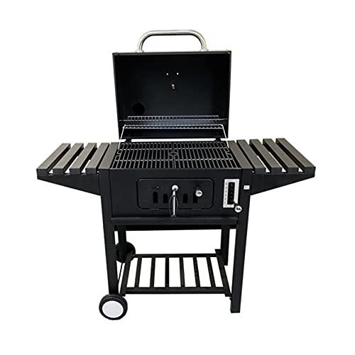Grill BBQ, la mejora de la parrilla de barbacoa de carbón con 6 niveles de temperatura de la parrilla se puede seleccionar a voluntad, malla a la parrilla del esmalte para cocinar al aire libre