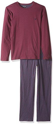 Emporio Armani Herren Jersey Printed Patterns Pajamas Thermo-Unterwäsche, Unterteil, Vertikale Linie, Small