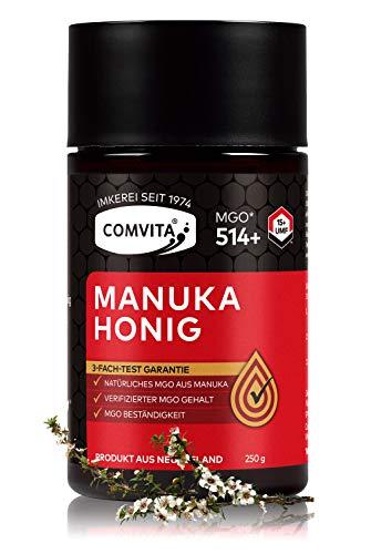 Comvita Manuka Honig 514+ MGO (UMF™ 15+) – 250g Manuka-Honig – Das Original aus Neusseland – Mit zertifizierten Methylglyoxal Gehalt