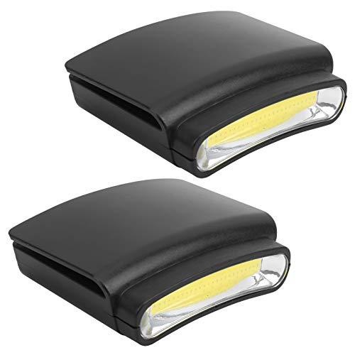 FEYV Cappello a Tesa Luminosa, Mini Lampada Frontale con Clip in PVC a 3 modalità, per Pesca in Campeggio