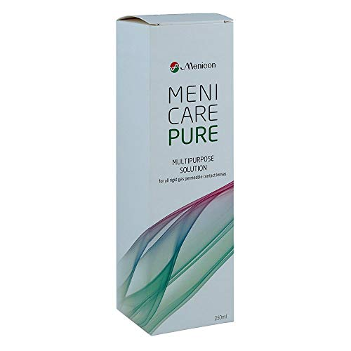 Menicare Puro multiuso solution 250 ml para todos Permeables Al Gas Lentillas