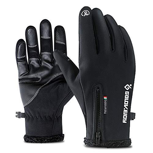 GQDP Kältebeständige, neutrale, wasserdichte Winterhandschuhe, warme Fahrradhandschuhe, Touchscreen-Handschuhe, rutschfeste, kalte und winddichte Herrenhandschuhe