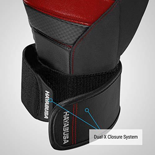 Hayabusa T3 Boxing Gloves (Black/Red, 10oz)
