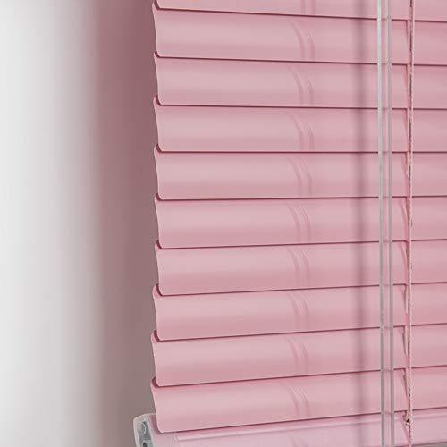 Estor enrollable persianas venecianas Persiana veneciana de aluminio rosa, mini persianas impermeables anti-UV para oscurecimiento de ventanas con accesorios, 45 cm / 65 cm / 85 cm / 105 cm / 125 cm /
