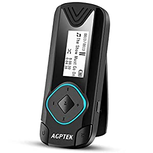 Clip MP3 Player 8GB Mini Digital Music Player for Jogging Running Gym, Supports up to 128GB, Black(R3)