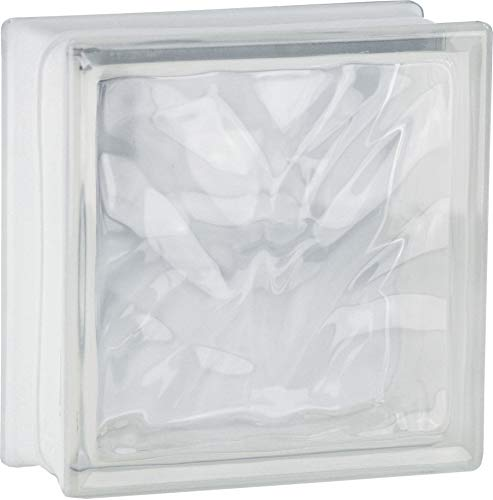 5 pièce FUCHS briques de verre nuage incolore brillant 19x19x8 cm