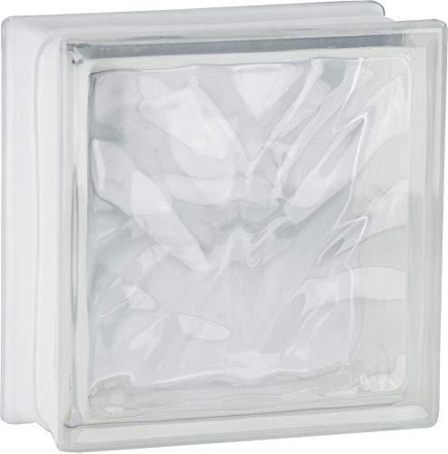 5 pieza FUCHS bloques de vidrio nube neutro brillante 19x19x8 cm