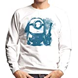 Despicable Me Stuart The Minion Guitar Art Men's Sweatshirt