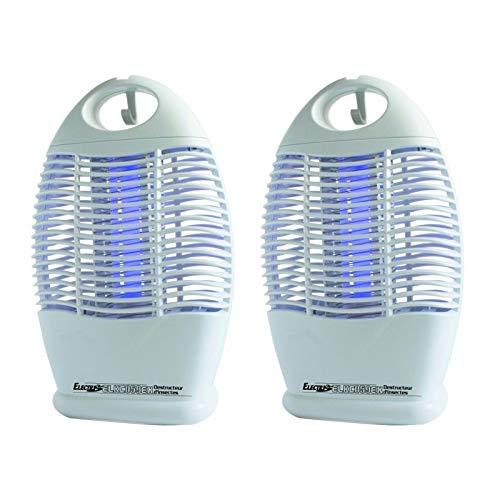 Electris Pack de 2X Destructeurs d insectes Anti Moustiques Portable Autonomie 10h LED Terrasse Camping
