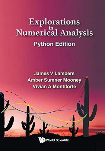 [画像:Explorations in Numerical Analysis: Python Edition]