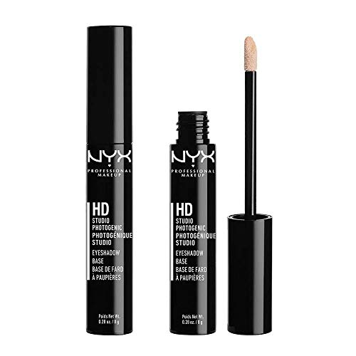 NYX Professional Makeup Prebase de sombra de ojos High Definition Eye Shadow Base, 2 unidades, Reduce la caída del color, Fórmula de larga duración