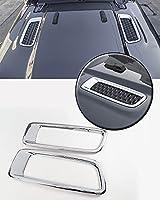 Bestmotoring フードエアアウトレット装飾フレーム エンジンカバー冷却空気出口 ジープ ラングラーJL グラディエーターJT 2018+ Wranler Gladiator ABS 2PCS 明るい オリジナル車型 外装パーツ 自動車部品