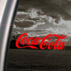 Coca-Cola-Rouge diable-chocs en vinyle autocollant pour fenêtre Rouge