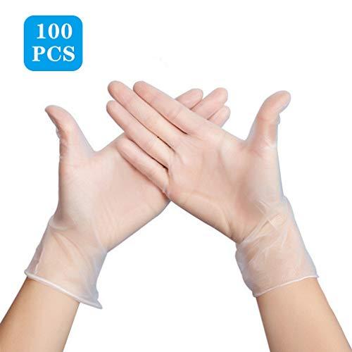 GXSY888 Wegwerp Handschoenen Transparante Beschermende Handschoenen, 100 Stks Poeder Gratis PVC, Gemakkelijk te dragen, voedsel Grade Bakken, Kneden Deeg Bakken, Inspectie Handschoenen