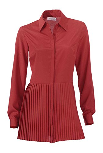 Heine Damen-Bluse Longbluse Rot Größe 34