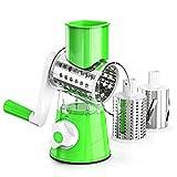 JUMPER Tritatutto, Affettatrice, Taglia Frutta e Formaggio, Utensile da Cucina Regolabile, Tritatutto Multifunzione (Verde)