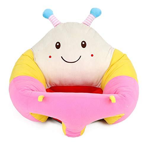 Peaches Stores Babysitting Stuhl, Baby Support Sofa Baby Sitting Stuhl Plüsch Weiche Tierform Tragbares Baby Sofa für Kleinkinder 3-24 Monate Baby Boden Plüsch Liege