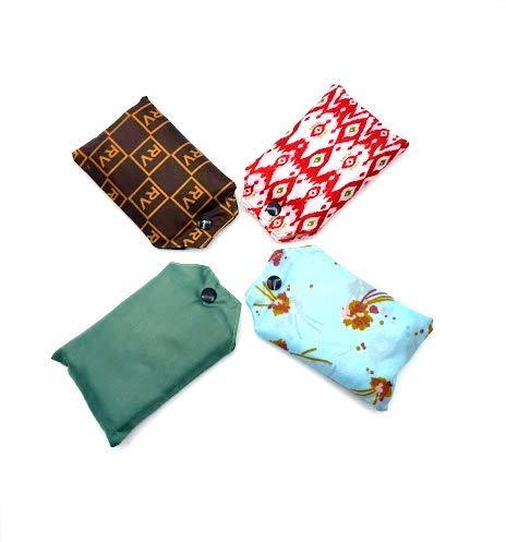Amichi Pack 4 Bolsas de compra Reutilizable, Saco de la compra ,Bolsa de la compra, supermercado ecológica, Plegable, de tela